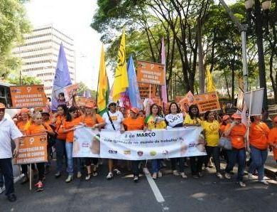 Ato das Centrais sindicais e dos movimentos sociais no Dia Internacional da Mulher