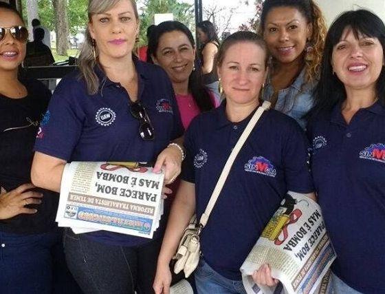 Trabalhadoras na luta por mais direitos sociais em Gravataí