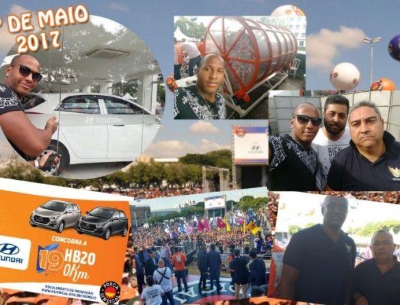 Vigilante sócio do Sindicato ganha carro na festa do 1º de Maio da Força Sindical