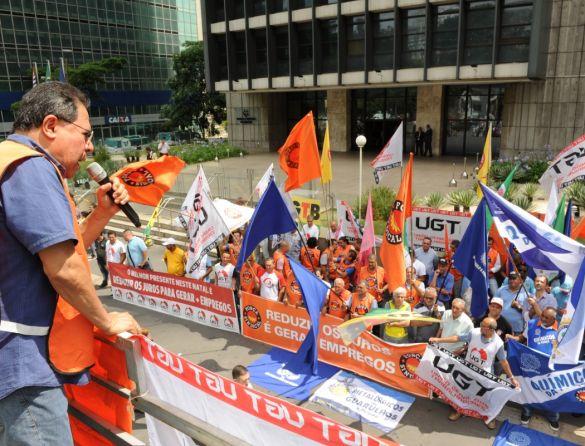 Centrais sindicais protestam hoje contra juros altos em frente ao Banco Central
