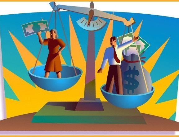 salario desigual entre homens e mulheres