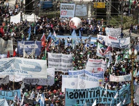 greve na argentina