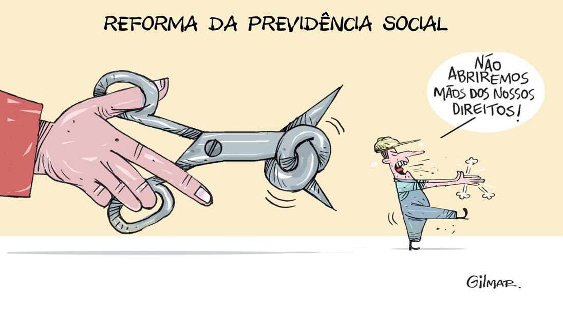 Resultado de imagem para charges sobre a reforma da previdência